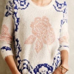 Anthropologie La Fee Verte Feathered Sweater